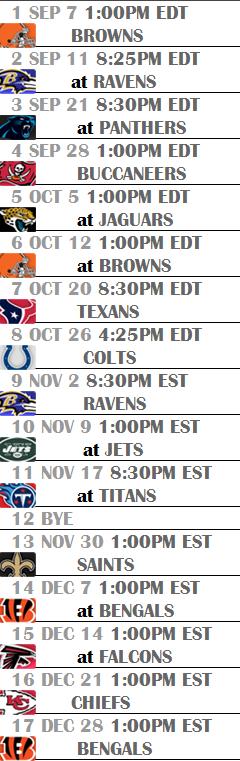 Steelers 2013 2014 Schedule